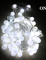 5m levou luzes da corda com feriado festival decoração da lâmpada bola 50led AC220V luzes de Natal iluminação exterior