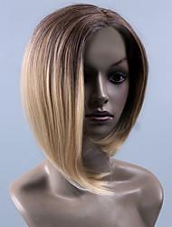 le style chaud perruques droites multicolores de qualité supérieure synthétique
