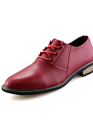 Young Fashion Men's Breathable Lace-up Leather Shoes in Leisure Style for Man's Dress Shoes for Working/Travelling