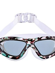 Large Frame Plating Plain Waterproof Swimming Glasses for Men and Women