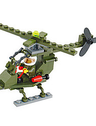 High-Quality Building Blocks Puzzle Assembling Toys Boys Burst Models Military Fennec Helicopters (10Pcs)