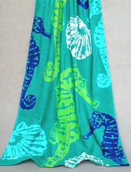 "Fashion Patterned Full Cotton Beach Towel 59"" by 28.7"""