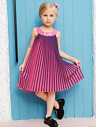 Vestido Chica de-Verano-Algodón / Poliéster-Rosa