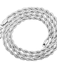 Necklace Chain Necklaces Jewelry Wedding / Party / Daily / Casual / Sports Alloy / Silver Plated Silver 1pc Gift