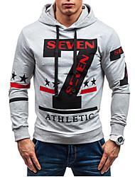 Sets Activewear Pour des hommes Manches longues Décontracté Lettre Coton / Polyester
