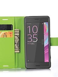 gaufré pu téléphone en cuir carte portefeuille en cuir titulaire étui protecteur pour sony xperia x