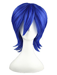 Cosplay Wigs Vocaloid Kaiko Blue Short Anime Cosplay Wigs 35 CM Heat Resistant Fiber Male / Female