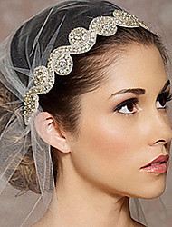 The New Bride High-Grade Pan Head Hair Pure Manual White Hair Band