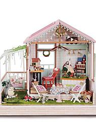 chi casa de diversão cabine DIY modelo de madeira A-022 idéias do presente Dreamland handmade
