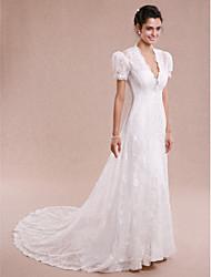 Wedding Lace Coats/Jackets Short Sleeve Women's Wrap