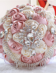 Stunning Wedding Flowers Colorful Bridesmaid Bridal Bouquets Artificial Satin Rose Wedding Bouquet(More Colors)