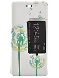 dente de leão coldre tensão pintado pu tampa do telefone material de concha para o Huawei Ascend P9 / P9 Lite