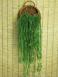 "37.8"" Simulation Wicker Hanging Rattan Plastic Green Plants Home Garden Diy Flower Vine"