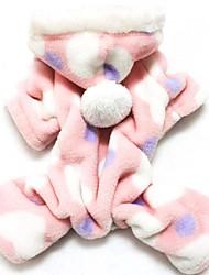 kočičky pejsky mikiny Kombinéza Pyžama Růžová Oblečení pro psy Zima Jaro/podzim Puntíkované Roztomilé Běžné/Denní