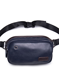 Men-Formal / Sports / Casual / Outdoor / Office & Career / Shopping-Poly urethane-Cross Body Bag Pockets-Blue / Black