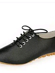 Women's Shoes Microfibre Flat Heel Comfort / Ballerina Flats Outdoor / Office & Career / Dress / Casual Black / White