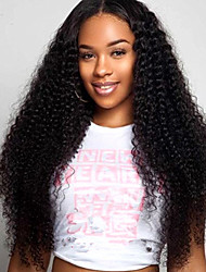 Full Lace Human Hair Wigs Indian Remy Wigs 100% Real Hair Kinky Curly Natural Color