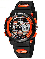 Men's Analog-Digital Water-Resisstant Multi-Functional Dual Time Zones Sports Watch Wrist Watch Cool Watch Unique Watch