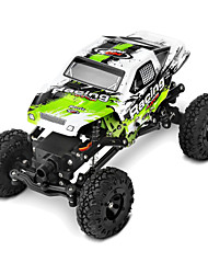 Rock Climbing Car WLToys 4WD 1:24 Electrico Escovado RC Car 2.4G Verde Pronto a usar