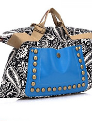 Lady's Fashion Bohemia Style Canvas Rivet Tote