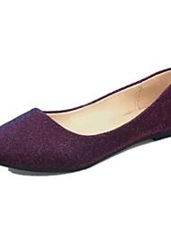 Women's Shoes PU Flat Heel Comfort / Ballerina Flats Outdoor / Office & Career / Dress / Casual Black / Purple