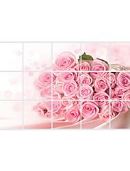 Цветы / 3D Наклейки Простые наклейки,pvc 45*75cm