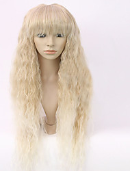 New Fashion Women's Glueless Deep Blonde Mix Curly Long Hair Wig for African American