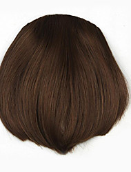 Kinky Curly Brown Retardant Human Hair Weaves Chignons 2/30