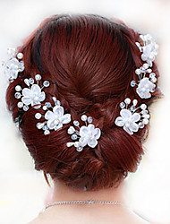 The New Bride high-Grade Pan Head Hair U Using The White Lace And 6 PCS