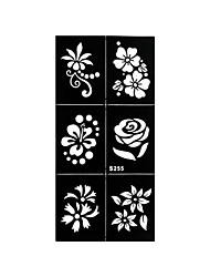 1pc Temporary Henna Small Rose Flower Stencil Tattoo Airbrush Printing Makeup Tool Body Art Sticker S255