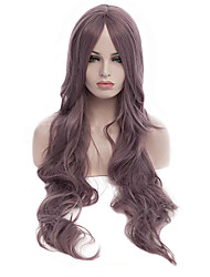 Capless Long Curly Purple Color Top Quality Cosplay Synthetic Wig