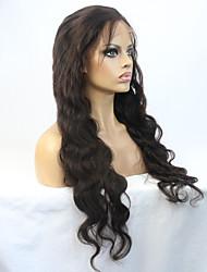 """perucas de cabelo humano virgem malaio 22 """"cor natural onda do corpo isabel parte dianteira do laço de qualidade 8a série"""