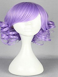 Top Quality  Capless Purple  Long Curly  Wig   Synthetic  Hair Wigs Full Wig