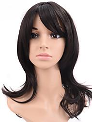 parti perruques synthétiques de haute qualité court bouclés noir couleur femme