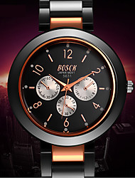 Men's Watch Rose Gold Alloy Noctilucent Tungsten Steel Eye Digital Noctilucent Waterproof Watch