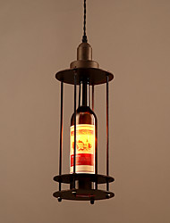 American Countryside Retro Metal Bottle Pendant Lamp for Indoor House Decorate Drop Light