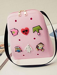 Women PVC Outdoor Backpack Multi-color