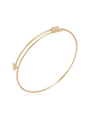 nova moda do vintage / bonito / partido do ouro casual Kaila mulheres banhado simples pulseira de jóias pulseira