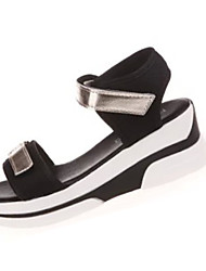 Women's Sandals Summer PU Casual Wedge Heel Others Silver Gold