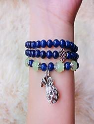 Bracelet Bracelets de rive Cristal / Gemme Forme de Cercle Mode / Bohemia style Quotidien / Décontracté Bijoux Cadeau Bleu foncé,1pc