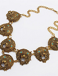 Fashion Exaggerated Lion Head Necklace
