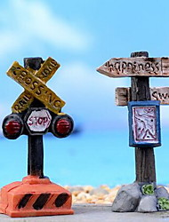 Simulation Signpost Succulents Flower Pots Accessories