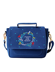 Flower Princess® Women Canvas Shoulder Bag Blue-1602XS001