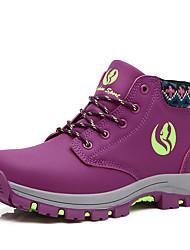 Damen-Flache Schuhe-Outddor-PU-Flacher Absatz-Komfort-Rosa / Lila