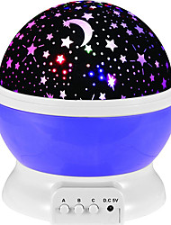 New Romantic New Rotating Star Moon Sky Rotation Night Projector Light Lamp  with Kids Bed Lamp Color Randomization