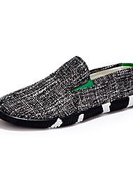 chaussures pour hommes tulle extérieur slip-on en plein air à pied d'autres talon plat noir bleu / bleu / royal