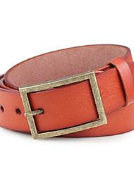 Men Faux Leather Waist Belt,Vintage / Party / Work / Casual Alloy / Leather P3D1P1K4