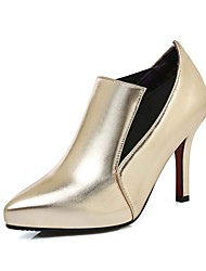Women's Shoes PU Summer/Pointed Toe Heels Office & Career/Casual Stiletto Heel Split Joint Red / Silver / Gold/Khaki