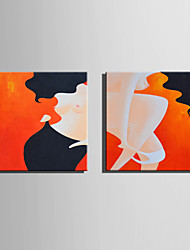 Mini Size E-HOME Oil painting Modern Women Pure Hand Draw Frameless Decorative Painting