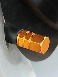 Color del casquillo de válvula del neumático de coche cubierta de la válvula personalizada
